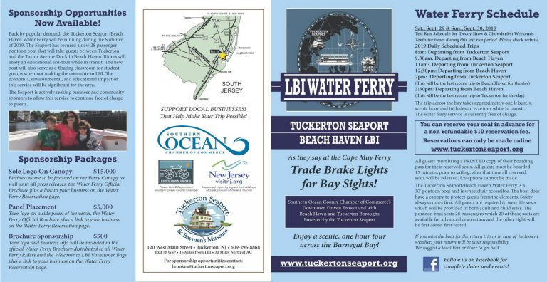 Tuckerton Seaport Events 2020.Get On Board The Tuckerton Seaport Beach Haven Water Ferry