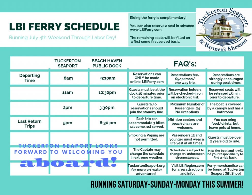 LBI Ferry Schedule